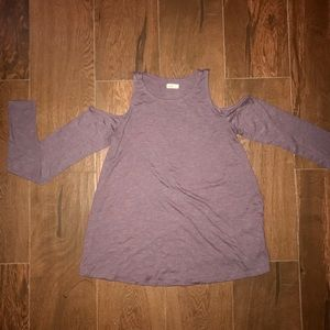 Hollister long sleeve with shoulder cutouts